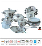 Amc 22PCS Stainless Steel Cookware Set