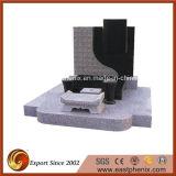 Popular European Black/Grey Granite Tombstone