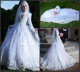 Muslim Bridal Wedding Gown Long Sleeves Lace Tulle Custom Wedding Dress G1786