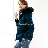 Women Hooded Zip-up Padded Jacket