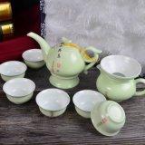 2017 Good Quality Green Teapot Set with Customer Logo