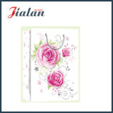 Mother′s Day - Ivory Paper Glitter Flowers Shopping Gift Paper Bag