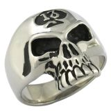Fashion 316L Stainless Steel Antique Look Movie Skull Ring