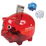 Promotinal Translucent Plastic Piggy Saving Bank (PM017)