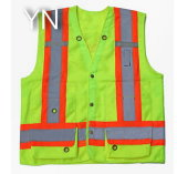 Safety Reflective Vest with Pockets