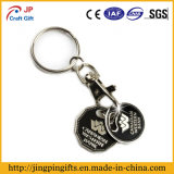 Custom Black Bling Metal Keychain with Trolley Token Coin Holder