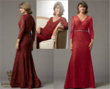 Tailored Mother Evening Dress, Ladies Prom, Lady Party Dress