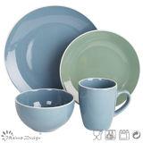 16PCS Glazing Ceramic Stoneware Dinner Set Food Contact Safe