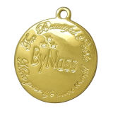 Gold Metal Hang Tag Charms with Engraved Logo