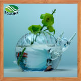 Crystal Snails Flower Vase for Water Plant