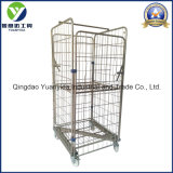 Full Sided Zinc Plated Supermarket and Warehouse Roll Container