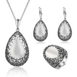 China Wholesale Gold Design Women Ring Necklace Crystal Jewelry Set