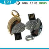 Jewelry Heart Shape Crystal USB Pendrive for Wedding Gift (ED003)
