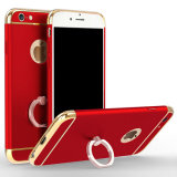 3 in 1 with Ring Standing Luxurious Mobile Cell Phone Case
