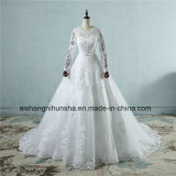 Good Quality Appliqued Princess Tulle Lace Wedding Dress