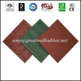 Seeing-Eye Rubber Paver Tile for Path Road Sidewalk Safety 300*300