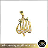Gold Allah Muslim Islamic Quran 24K Men Gold Pendant