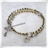 Wrap Around Plastic Beads Rosary Bracelet with Miraculous Medal (IO-CB030)