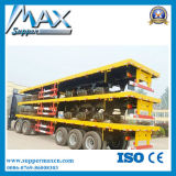 3 Axle Flatbed Container Truck to Transport Containers with 12 PCS Twist Lock Installed