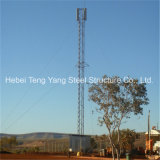 Hot DIP Galvanized Guy Wire Steel Tubular Mobile Telecommunication Tower