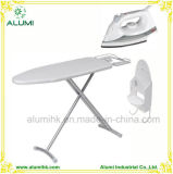 Hotel Silver Ironing Board with Steam Iron and Iron Holder