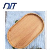 Decorative Eco Friendly Handmade Ellipse Wood Dinner Plate