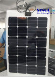 75W 19~23% Efficiency Semi Flexible Monocrystalline Silicon Solar Panel with Sunpower Cells