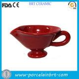 Red Ceramic Convenient Gravy Sauce Cup