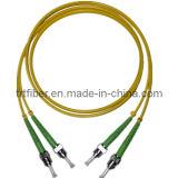 ST-ST APC Fiber Optic Patch Cord