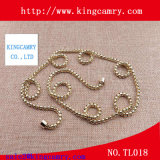 Fashion Jewelry Double Gold Chains Necklace, Stainless Steel Ball Chains