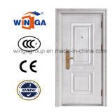 High Quality White Color Decorative Metal Security Steel Door (W-S-04)