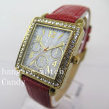 Diamond Alloy Case Watch Cheap Fashion Quartz Watch (HL-CD023)