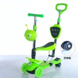 2016 New Style 5 in 1 Multi Function Baby Scooter with Push Bar