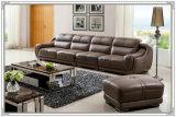 4 Seater Top Grain Leather Sofa Furniture (A849)
