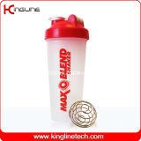 600ml Plastic Shaker Bottle Wholesale with Blender Mixer Ball Inside (KL-7010)