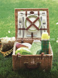 Customized Handmade Wicker Craft Willow Picnic Basket in Rectangular Shape