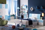 Home Furniture Bedroom Sets with MDF for Boys with Blue