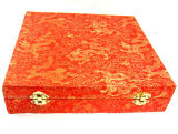 Traditional Style Silk Cloth Giftware Holder Box
