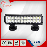 Double Rows 12′′ 4X4 LED Light Bar 72W with IP68, CE, RoHS for Jeep, Truck, SUV