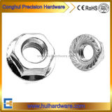 White Zinc Plated Hex Flange Head Nuts