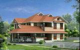 Green and Comfortable Light Steel Prefab House as Villa