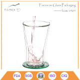 8 Oz Double Wall Glass Glass Cup for Tea