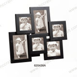 New Black Wooden Photo Frame with Multiple Opening
