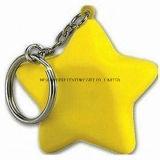 PU Stress Star with Keychain Promotional Stress Balls