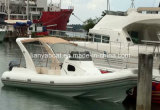 Liya 27 Feet Luxury Boat China Rib Boats Inflatable Fiberglass Cabin Boats for Sale