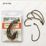 High Carbon Steel Ep-91768 Worm Fishing Hook Customized Fishing Hook