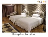 French Style Queen Size Two Bed Hotel Bedroom Furniture Sets (HD036)