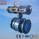 Pneumatic Actuated 3 Pieces Cast Steel Trunnion Mounted Ball Valve (Q647F)