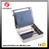 Metal Cigarette Rolling Box Tobacco Roller Case 70mm Siver with Flat Bottom Iron