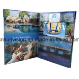 """A5 Vertical Hardcover 5"""" LCD Business Advertising Brochure"""